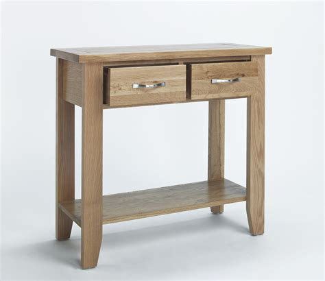 Slim Hallway Table Compton Solid Oak Furniture Small Hallway Console Table Ebay