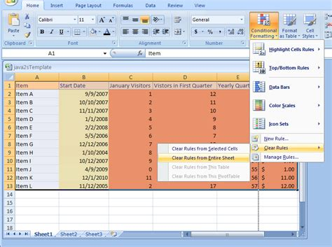 conditional format shape excel 2007 excel clear conditional formatting rules