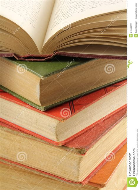 multi books stack of multi colored books royalty free stock images