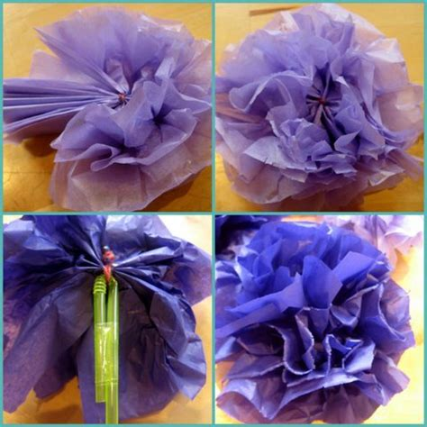 fiori carta velina 10 bouquet di fiori fatti dai bambini per la festa della mamma