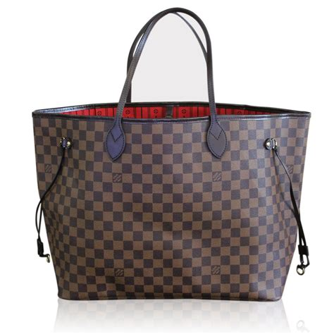 Neverfull Damiere louis vuitton neverfull gm damier ebene tote in box