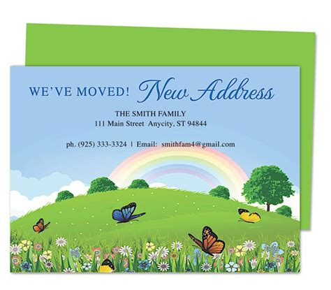 moving announcement template 14 best images about moving announcements new address