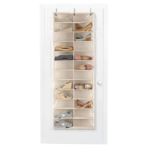 door shoe organizer 24 pocket overdoor shoe organizer the container store