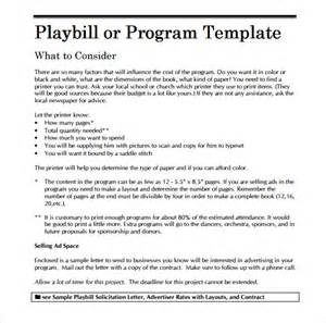 Playbill Template by Playbill Program Template Related Keywords Playbill