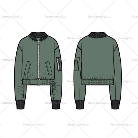 bomber jacket design template cropped bomber jacket flate template illustrator stuff