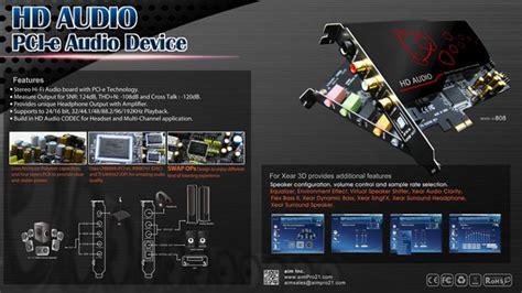 Harga Sound Card Aim by Aim High Definition Sound Card 7 1 Pci E Sc808 Black