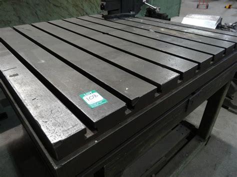 steel t slot table 120 cm x 120cm 89cm high steel t slot table 1st machinery