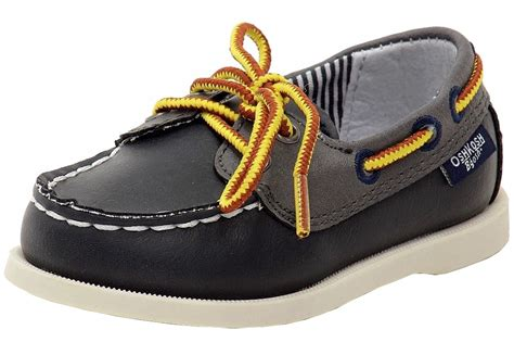 oshkosh b gosh toddler boy s alex navy lace up boat loafers shoes ebay