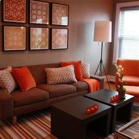 orange sofa decorating ideas 25 best ideas about orange living rooms on pinterest
