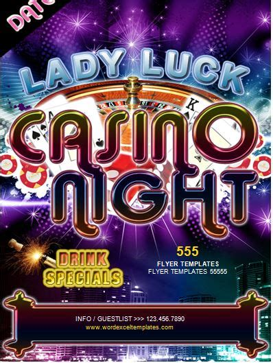 Ms Word Casino Night Flyer Template Word Excel Templates Casino Fundraiser Flyer Template