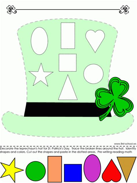 Hats On To Marc Color Shape by 18 St S Day Free Printable Kid S Activities