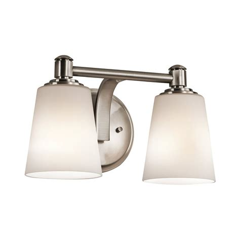 Kichler Vanity Light Shop Kichler Lighting 2 Light Quincy Classic Pewter Bathroom Vanity Light At Lowes