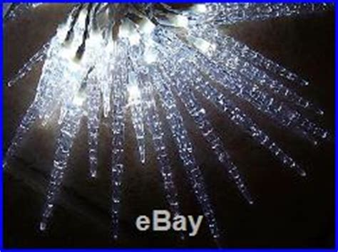 melting icicle lights 175 white led icy icicle indoor outdoor