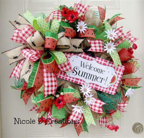 door wreaths for 25 best ideas about mesh wreaths summer on