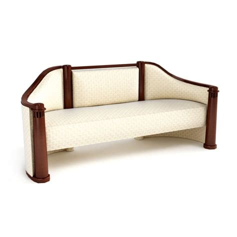 vintage wooden sofa antique creamy wooden sofa 3d model cgtrader com