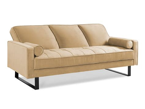 convertable couch malta convertible sofa taupe by serta lifestyle