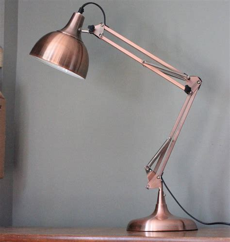 Adjustable Desk Base Copper Angled Table Lamp By The Forest Amp Co