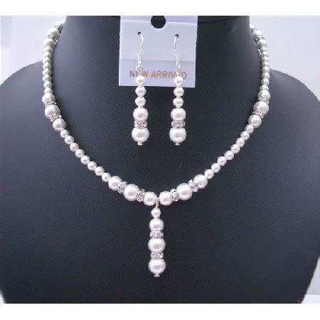 Handcrafted Bridal Jewelry - bridal handcrafted drop wedding jewelry set