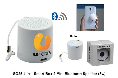 Smart Box Mini Speaker Bluetooth Smar Sg25 4 In 1 Smart Box 2 Mini Bluetooth Speaker 3w