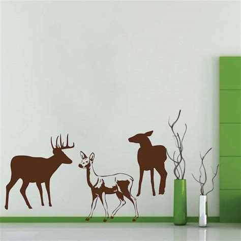 deer wall sticker deer wall decals trendy wall designs