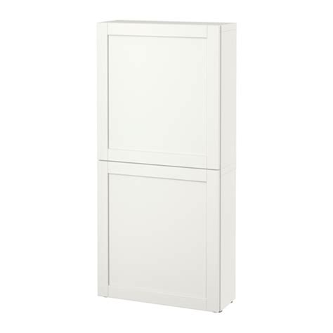 besta wall cabinet best 197 wall cabinet with 2 doors hanviken white ikea