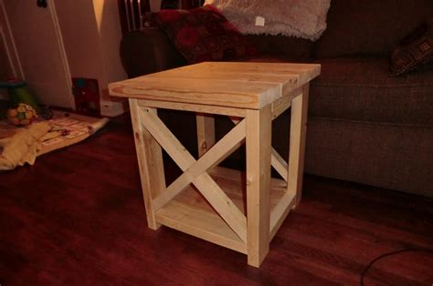 ana white rustic x end table diy projects ana white smaller rustic x end table diy projects