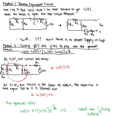 capacitor circuit differential equation solving an rc circuit using differential equations physics forums the fusion of science and