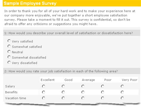 employee survey template do as i do not as i say the nelson touch