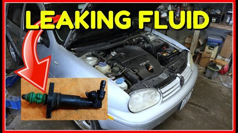 vw golf mk tdiclutch slave cylinder replacement youtube