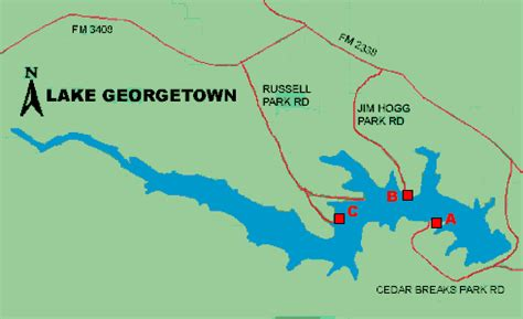 where is georgetown texas on map lake georgetown access