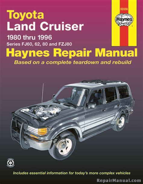 car manuals free online 1993 toyota land cruiser head up display haynes toyota land cruiser 1980 1996 auto repair manual