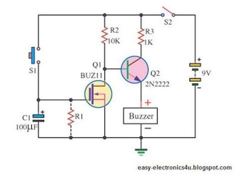 discharge capacitor transistor simple dc timer using mosfet on after delay easy electronics