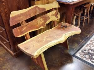 Desks And Hutches Live Edge Cedar Bench Ul 20 Sold All Wood Furniture