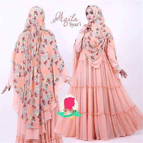 Rok Syari Bahan Wolvis Baju Muslim Wanita Gamis aqila syar i by gallery syarifah baju gamis syari bahan ceruti