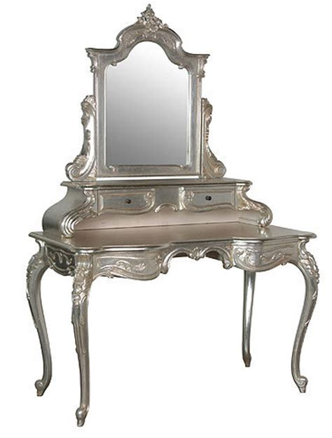 Silver Vanity Table Silver Vanity Table Chic