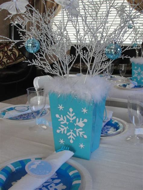 82 best party snowflake theme images on pinterest
