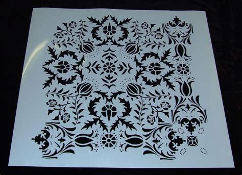 Stencil Machine Gear By 1airbrush handmade large damask stencil 24 x 24 inches laser cut