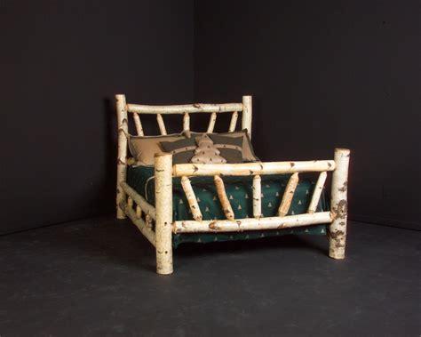 log bed frame handmade birch log bed frame by viking log furniture