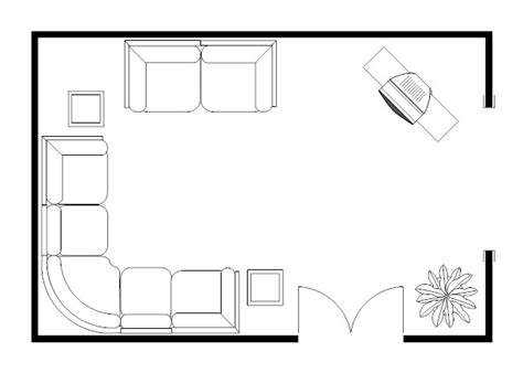 room plan living room sectional floor plan exle
