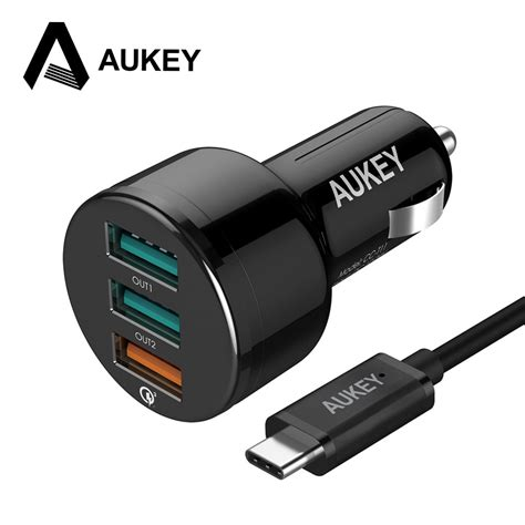 Charge 3 0 Car Charger aukey charge 3 0 3 ports usb car charger mini usb