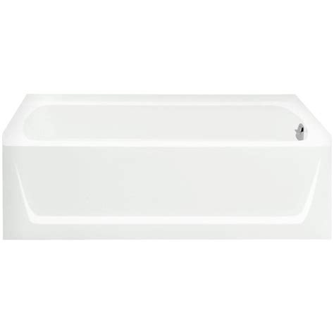 sterling ensemble bathtub sterling ensemble 5 ft right drain soaking tub in white