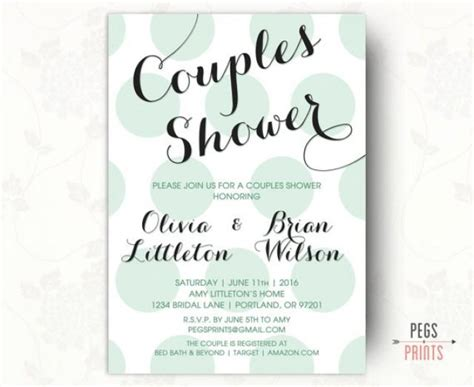 couples bridal shower printable printable couples shower invitation couples wedding shower invitation his and hers shower