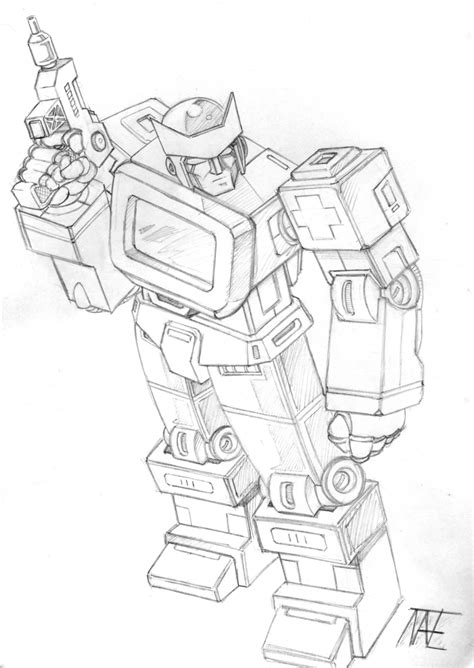 transformers coloring pages ratchet g1 ratchet by natephoenix on deviantart