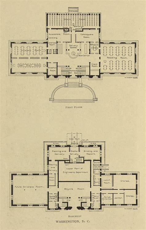 carnegie floor plan floor and basement floor plans for the carnegie library in washington d c
