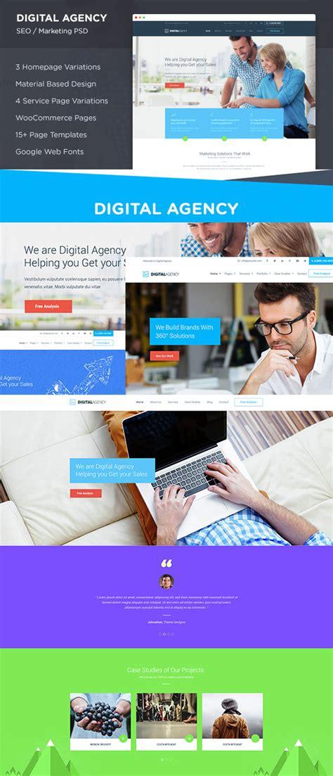 The Best Photoshop Psd Website Templates Of 2016 Digital Agency Website Templates