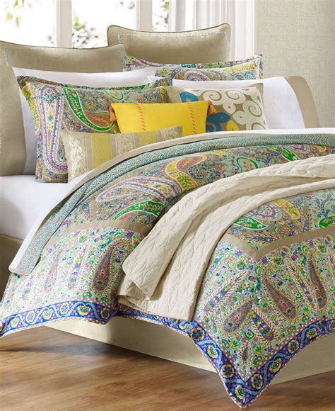 macy s bedding collections echo bedding scarf paisley comforter from macys