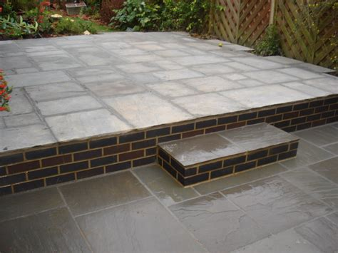 New Patio by Patio Using Indian Sandstone