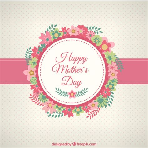 feliz dia de las madres card template tarjeta de feliz d 237 a de las madres con flores descargar