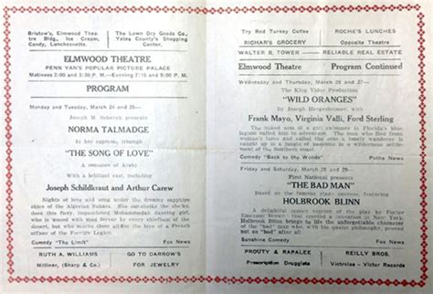 Observations On Film Art You Can Go Home Again And Maybe Find An Old Movie Theatre Program Template 2