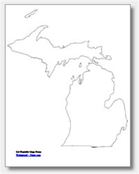 Printable Outline Of Michigan by Michigan State Map Outline Michigan Map